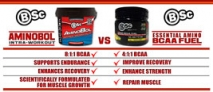 Body Science BSc Amino BCAA Fuel & BSc AminoBol - A Comparative Look