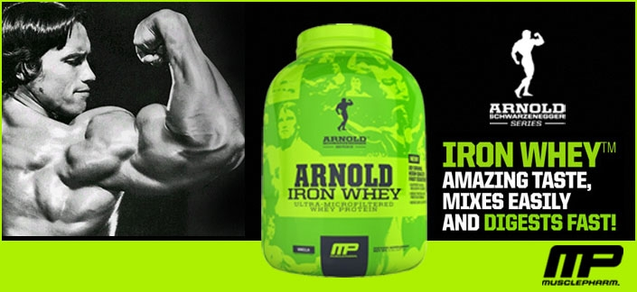 Muscle Pharm Arnold Iron Whey Review - Sporty's Health
