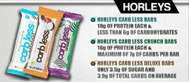 Horleys Carb Less Protein Bar Range