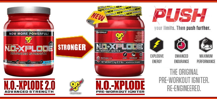 NEW BSN NO Xplode Pre-Workout Igniter -VS- BSN NO Xplode 2.0