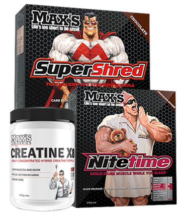 Maxs Supershred Lose Fat Essentials Stack