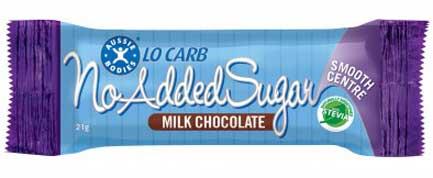 Aussie Bodies Lo Carb No Added Sugar Milk Chocolate