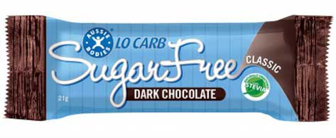 Aussie Bodies Lo Carb Sugar Free Dark Chocolate