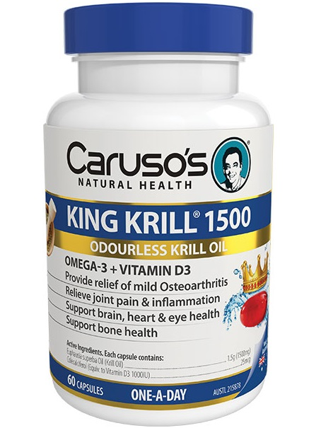 Caruso's Natural Health King Krill 1500mg + Vitamin D