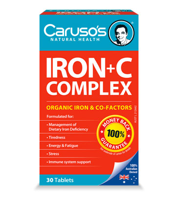 Carusos Natural Health Ultra Max Iron+C Complex