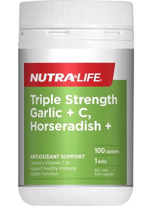 Triple Strength Garlic + C Horseradish