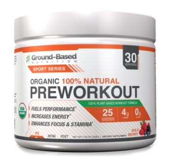 Ground Based Nutrition Organic 100% Natural Preworkout