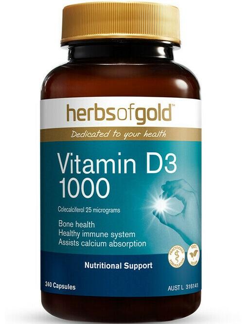 Herbs of Gold Vitamin D3 1000 (IN RICE BRAN OIL)