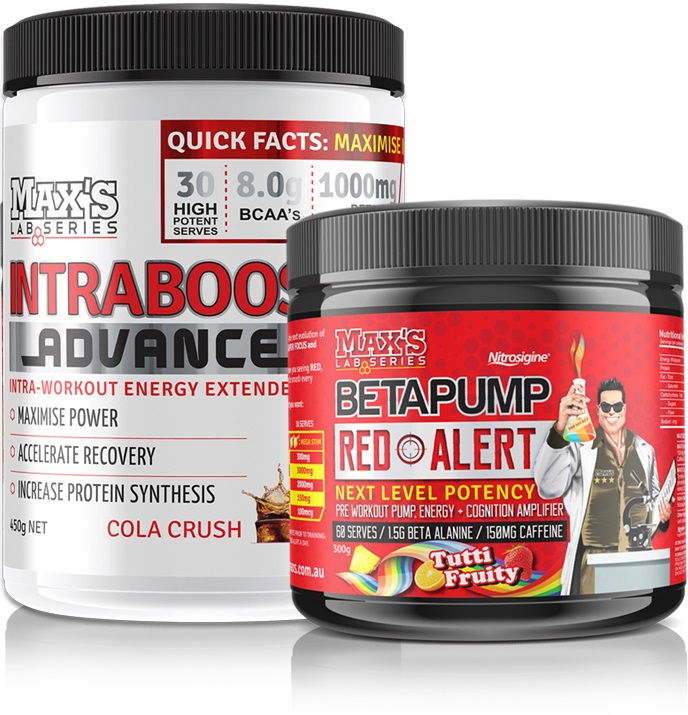 Maxs Intraboost + Betapump Accelerated Workout Stack