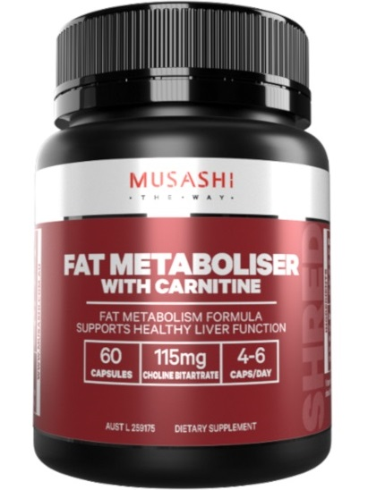 Musashi Fat Metaboliser with Carnitine