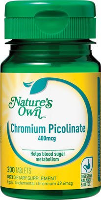 Natures Own Chromium Picolinate 400mcg