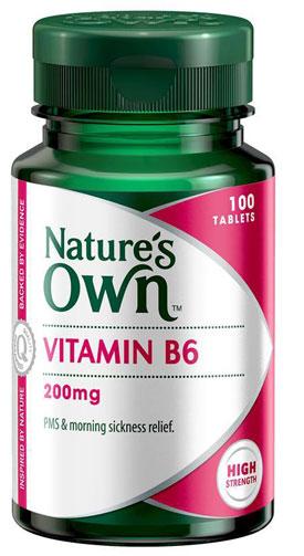 Natures Own Vitamin B6 200mg