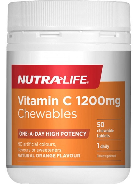 Nutra-Life Vitamin C 1200mg Chewable