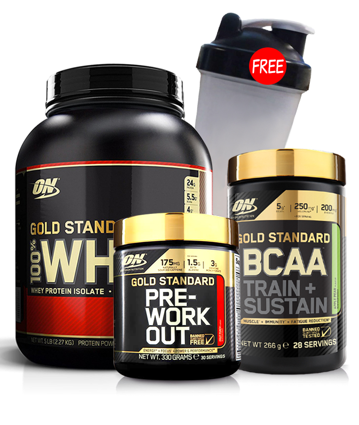 Optimum Nutrition Gold Standard Whey BCAA Pre-Workout Stack