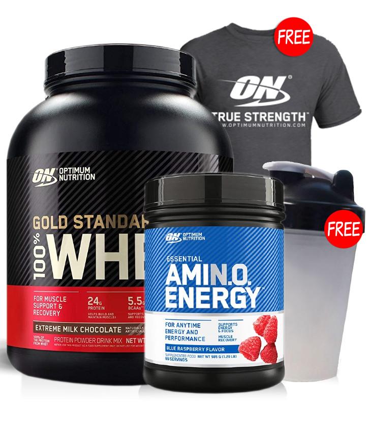 Optimum Nutrition Whey Gold Amino Energy Stack