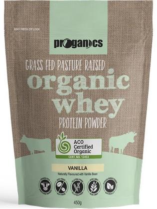 Proganics Organic Whey Protein Grass Fed