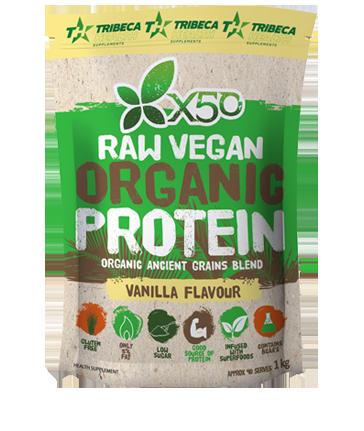 Tribeca Health X50 Raw Organic Vegan Protein