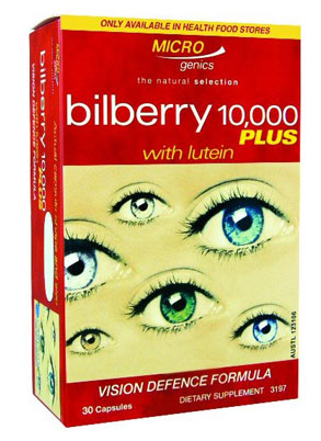Microgenics Bilberry 10000 Plus with Lutein