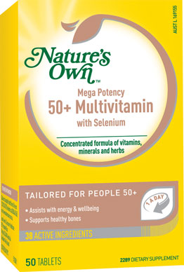Nature's Own Mega Potency 50+ Multivitamin