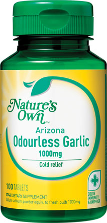 Nature's Own Odourless Garlic 1000mg