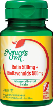 Nature's Own Rutin 500mg + Bioflavonoids 500mg