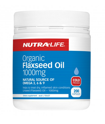 Nutra-Life Organic Flaxseed Oil 1000mg