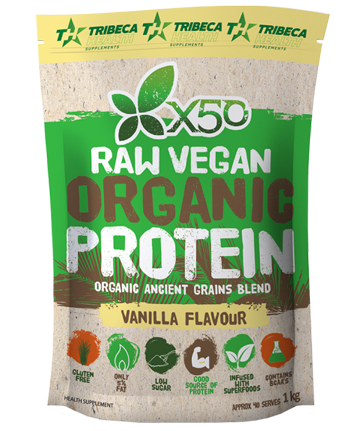 Tribeca Health X50 Raw Organic Vegan Protein