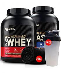 Optimum Nutrition Gold Standard Whey + Casein Stack