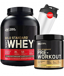 Optimum Nutriton Gold Standard 100% Whey + Gold Standard Pre-Workout stack