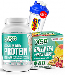 X50 Lean Whey Protein and Green Tea X50 Stack