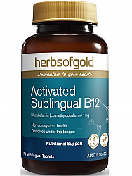 Herbs of Gold Activated Sublingual B12 1000