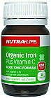 Nutra-Life Organic Iron Plus Vitamin C