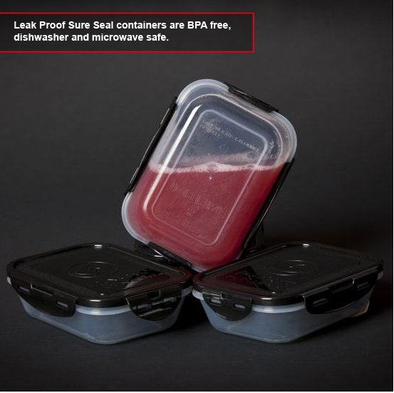6 pack bag has leak proof containers
