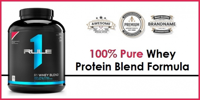 rule 1 whey blend protein powder