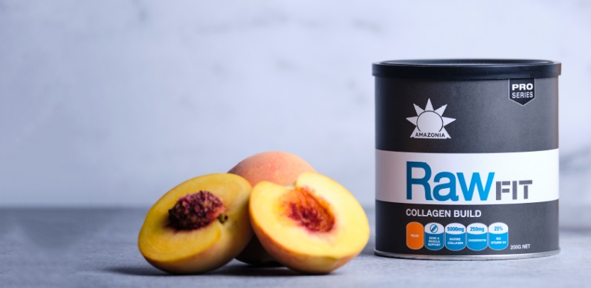 raw collagen peach flavour