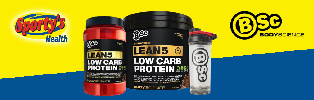 BSc Lean 5 Protein Powder Banner