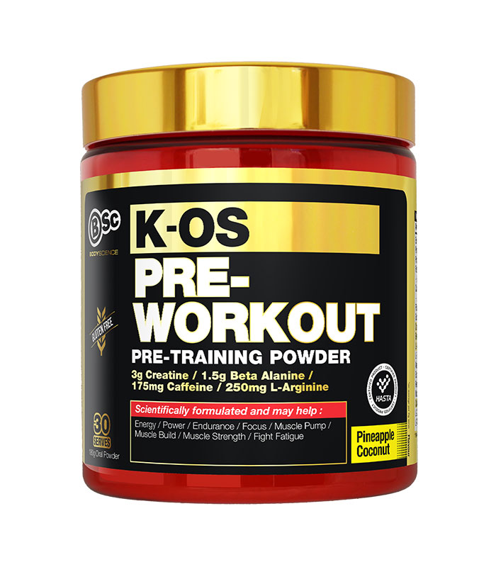 k-os pre-workout pineapple flavour