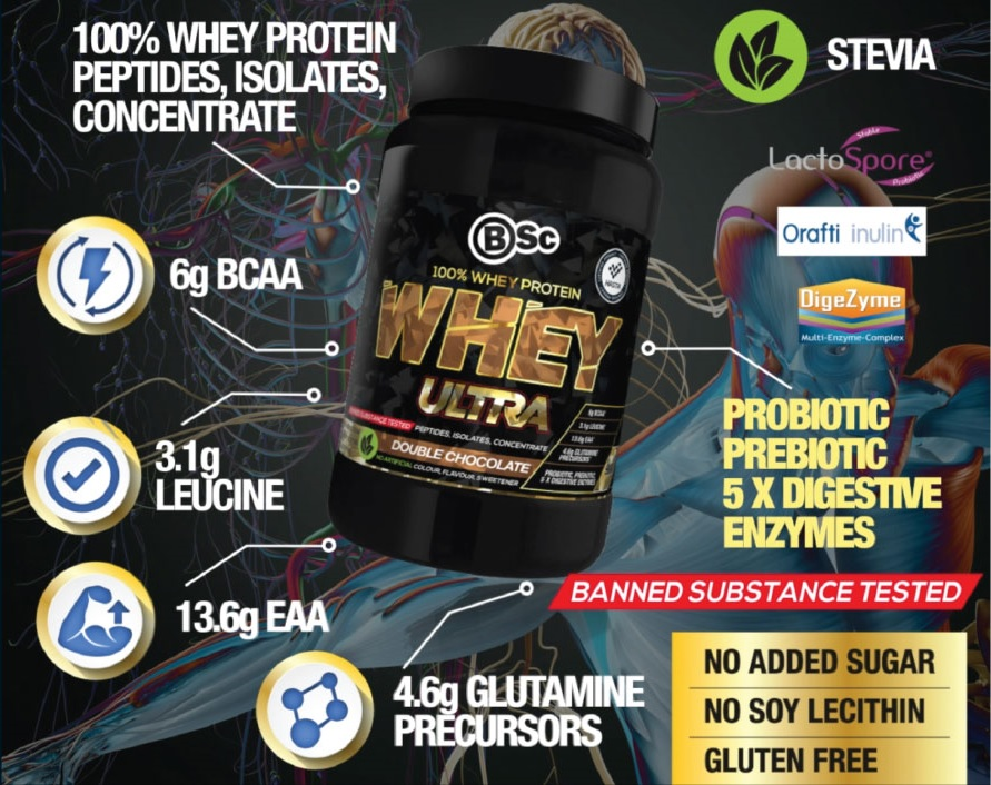 bsc whey protein ultra infographic