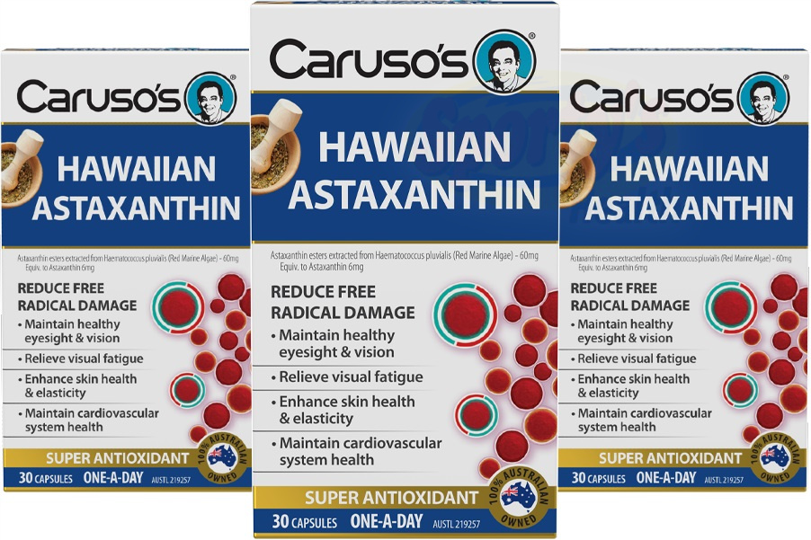 3 packets of astaxanthin capsules