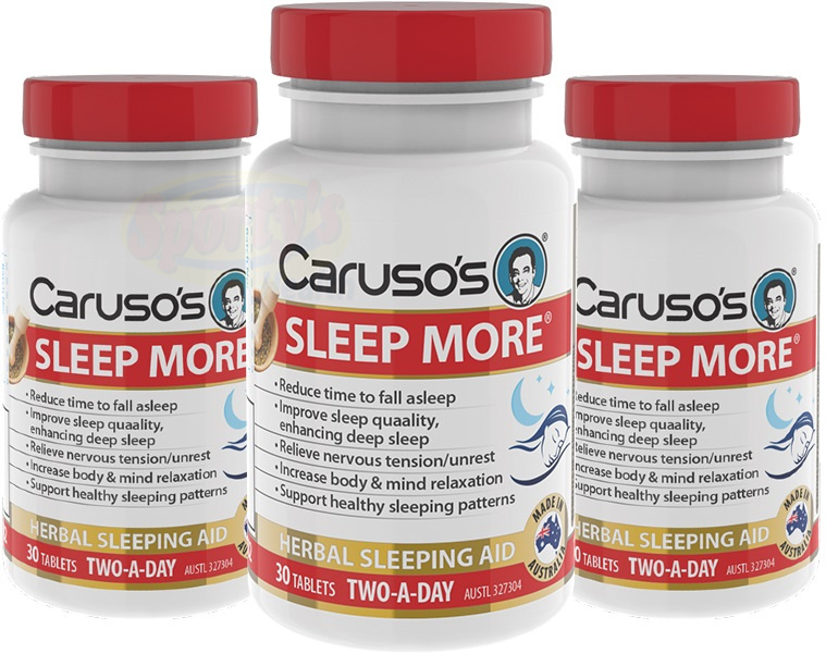 caruso sleep more banner