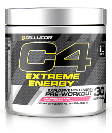 black and grey container of C4 extreme energy