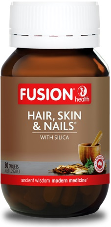 fusion hair skin and nails bottle
