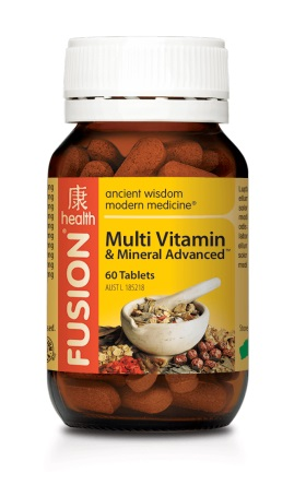 fusion multi vitamin and mineral bottle