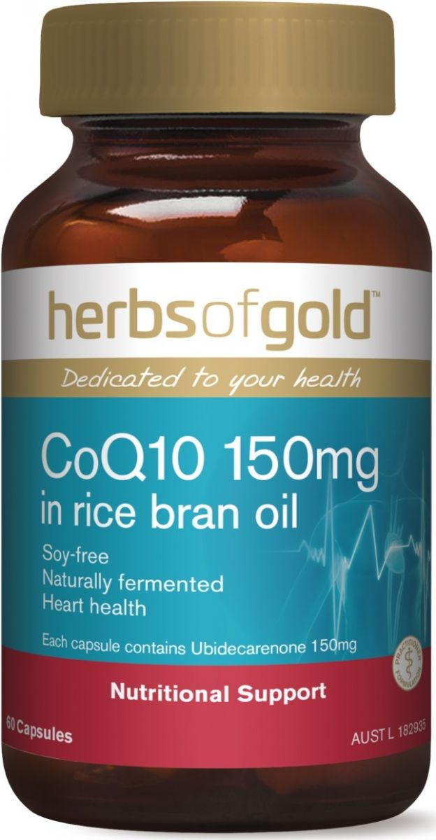 a container of COQ10 capsules