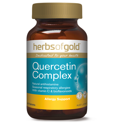 a single bottle of herbs of gold quercetin complex