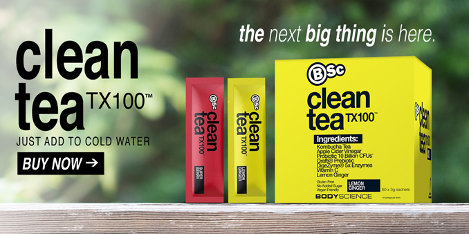 BSc Clean Tea TX100 Available Now