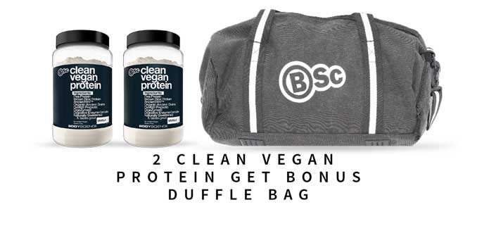 Free BSc Duffle with 2 x Cklean Vegan Protein