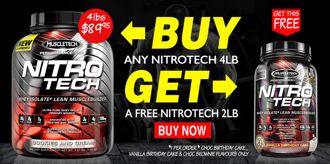 FREE MuscleTech Nitro-Tech 2lbs with Nitro-Tech 4lbs