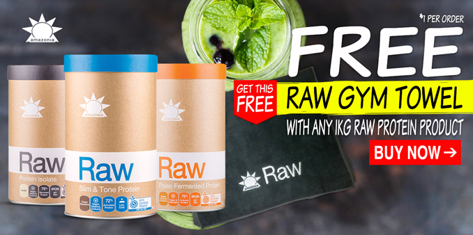 FREE Raw Gym Towel with any 1kg Protein