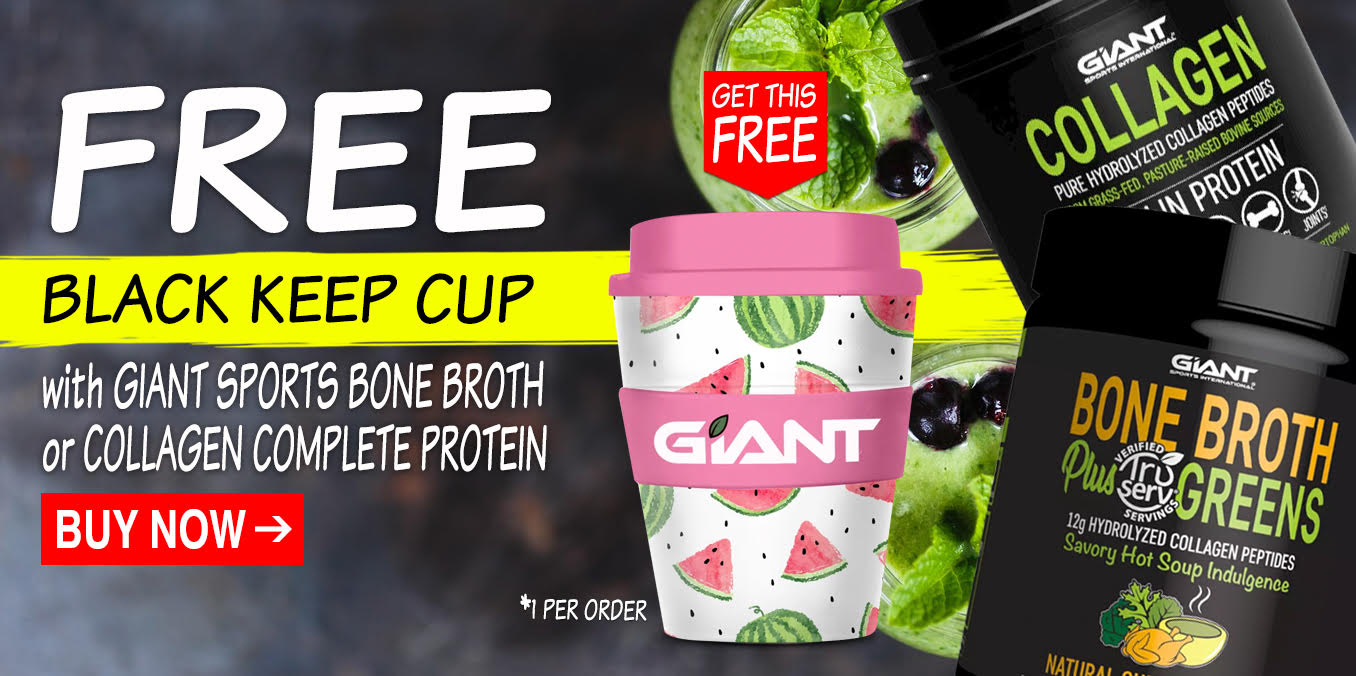 Free Keep Cup with Giant Bone Broth or Collagen